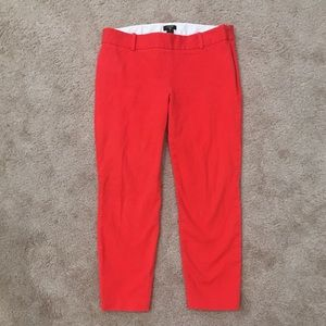J Crew city fit bright orange crop pants